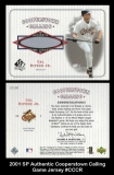2001 SP Authentic Cooperstown Calling Game Jersey #CCRR