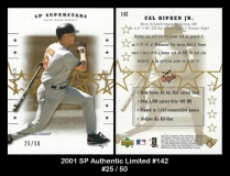 2001 SP Authentic Limited #142