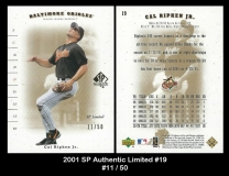 2001 SP Authentic Limited #19
