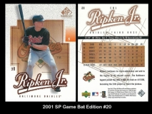 2001 SP Game Bat Edition #20
