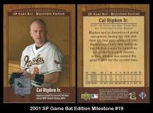 2001 SP Game Bat Edition Milestone #19