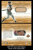 2001 SP Game Bat Edition Piece of the Game #CR