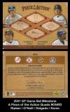 2001 SP Game Bat Milestone A Piece of the Action Quads #ONRD