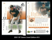 2001 SP Game Used Edition #20