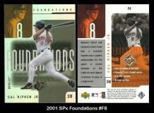 2001 SPx Foundations #F6