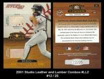 2001 Studio Leather and Lumber Combos #LL2
