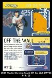 2001 Studio Warning Track Off the Wall #WT23