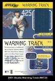 2001 Studio Warning Track #WT23