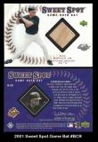 2001 Sweet Spot Game Bat #BCR