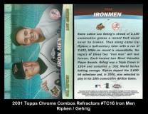 2001 Topps Chrome Combos Refractors #TC16 Iron Men