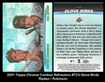 2001 Topps Chrome Combos Refractors #TC3 Glove Birds