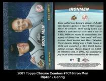 2001 Topps Chrome Combos #TC16 Iron Men