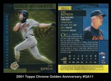 2001 Topps Chrome Golden Anniversary #GA11