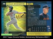 2001 Topps Chrome Golden Anniversary Refractors #GA11