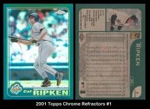 2001 Topps Chrome Refractors #1