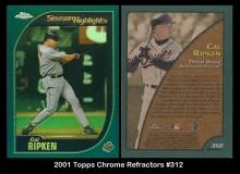 2001 Topps Chrome Refractors #312