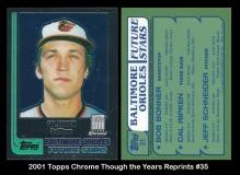 2001 Topps Chrome Through the Years Reprints #35
