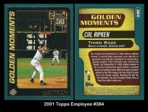 2001 Topps Employee #384