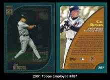 2001 Topps Employee #387