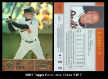 2001 Topps Gold Label Class 1 #17
