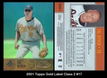 2001 Topps Gold Label Class 2 #17