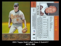 2001 Topps Gold Label Class 2 Gold #17