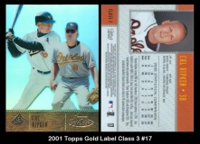 2001 Topps Gold Label Class 3 #17