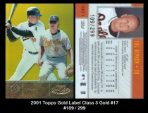 2001 Topps Gold Label Class 3 Gold #17