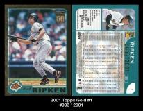 2001 Topps Gold #1