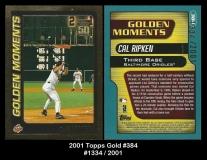 2001 Topps Gold #384
