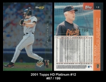 2001 Topps HD Platinum #12