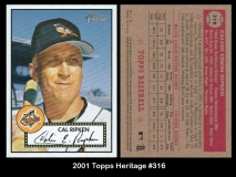 2001 Topps Heritage #316