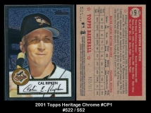 2001 Topps Heritage Chrome #CP1