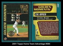 2001 Topps Home Team Advantage #384