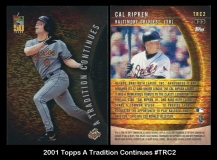 2001 Topps A Tradition Continues #TRC2