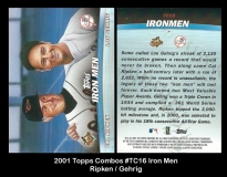 2001 Topps Combos #TC16