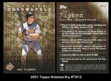 2001 Topps Noteworthy #TN12