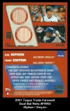 2001 Topps Traded Farewell Dual Bat Relic #FRRG