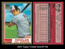 2001 Topps Traded Gold #T105