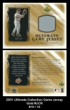 2001 Ultimate Collection Game Jersey Gold #UCR