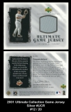2001 Ultimate Collection Game Jersey Silver #UCR