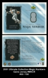 2001 Ultimate Collection Magic Numbers Game Jersey #MNCR