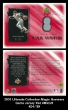 2001 Ultimate Collection Magic Numbers Game Jersey Red #MNCR
