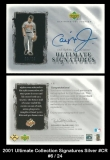 2001 Ultimate Collection Signatures Silver #CR