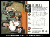 2001 Upper Deck Coca Cola Ripken Collection #1