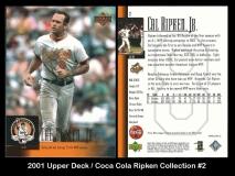 2001 Upper Deck Coca Cola Ripken Collection #2
