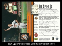 2001 Upper Deck Coca Cola Ripken Collection #4