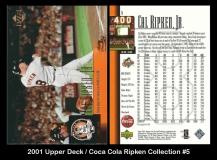 2001 Upper Deck Coca Cola Ripken Collection #5