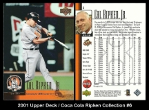 2001 Upper Deck Coca Cola Ripken Collection #6