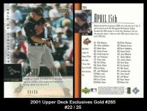 2001 Upper Deck Exclusives Gold #265